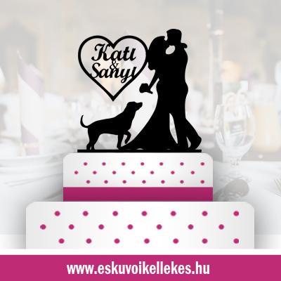 Állatos esküvői tortadísz + ajándék talapzat
