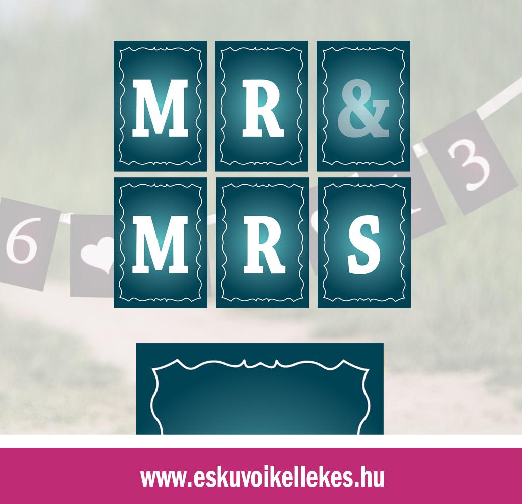 Egyedi Mr&Mrs vagy dátumos szalag – barokk2 szegély