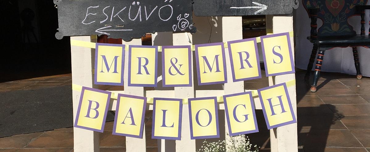 Milyen legyen az esküvői feliratos szalag?