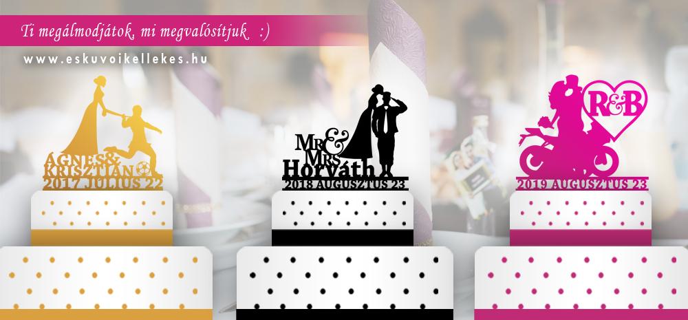 Hogyan válasszuk ki az esküvői tortadíszt?