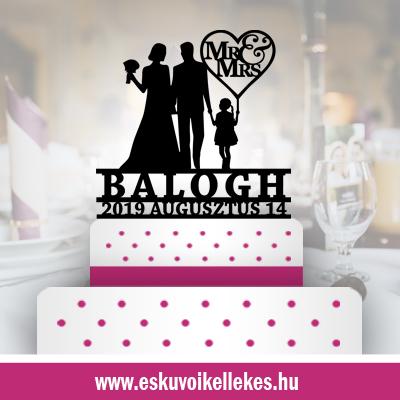 Családos-esküvői tortadísz (41) + ajándék talapzat
