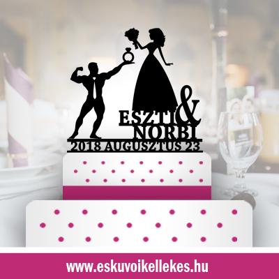 Body builder esküvői tortadísz (34) + ajándék talapzat