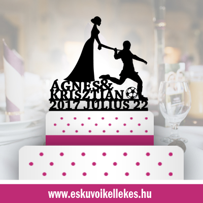 Focis esküvői tortadísz (35) + ajándék talapzat