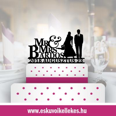Favágó esküvői tortadísz (38)+ ajándék talapzat