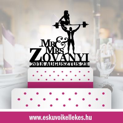 Body builder esküvői tortadísz (39) + ajándék talapzat