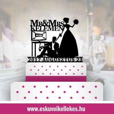 Humoros-esküvői tortadísz (71) + ajándék talapzat