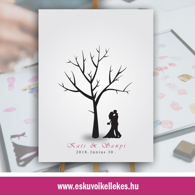 Ujjlenyomatos esküvői vendégkönyv (12)