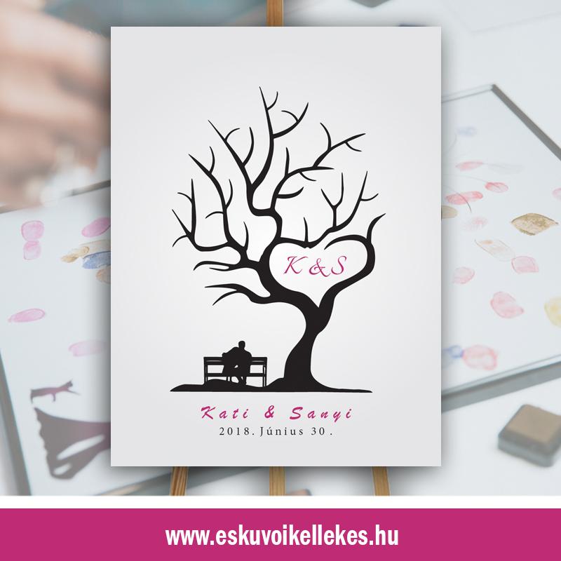 Ujjlenyomatos esküvői vendégkönyv (15)